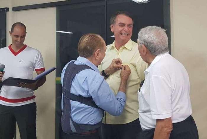 Bolsonaro no almoço com militares