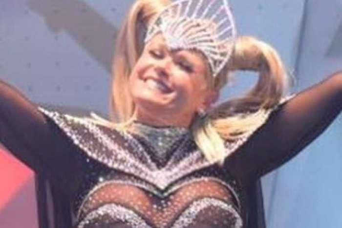 Xuxa no show de Fortaleza