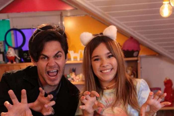 Lucas Veloso e a youtuber Catarina Dantas