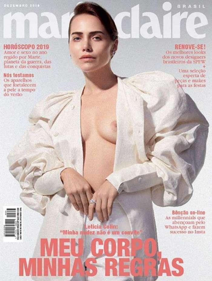 Letícia Colin na capa da revista 'Marie Claire'