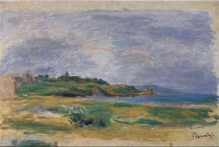 A pintura, que retrata uma paisagem marítima, deveria ser leiloada nesta  quarta-feira, mas desapareceu na tarde de segunda, segundo a polícia 415f515340