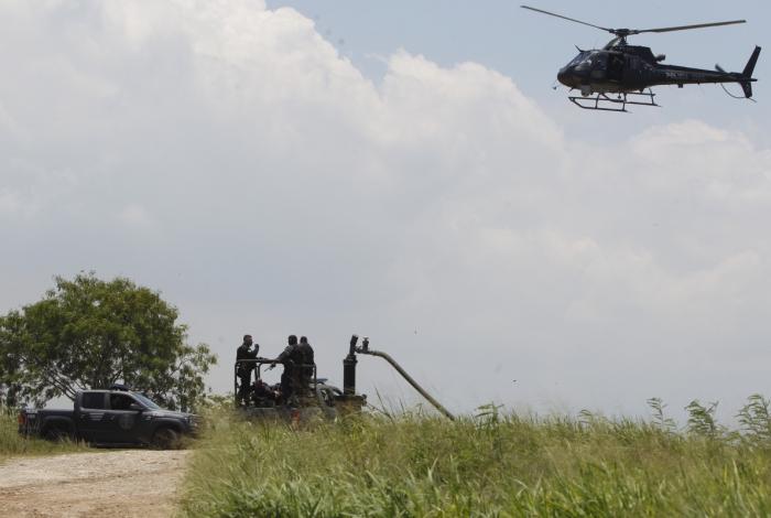 DPMA faz operação para apurar denúncia de despejo de chorume na Baía de Guanabara