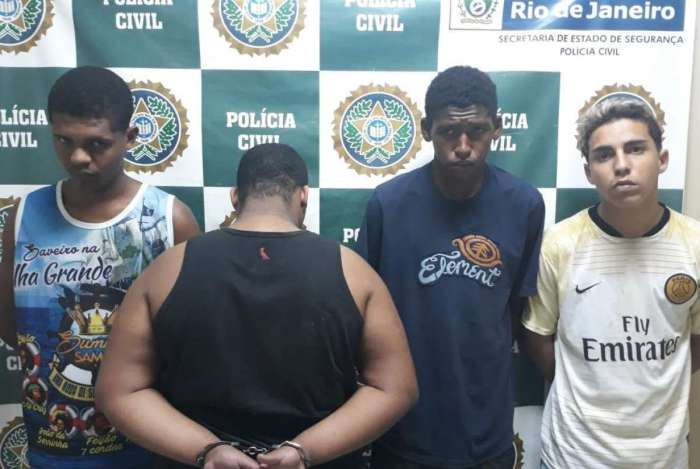 Polícia Civil prendeu três suspeitos e apreendeu um adolescente em Seropédica