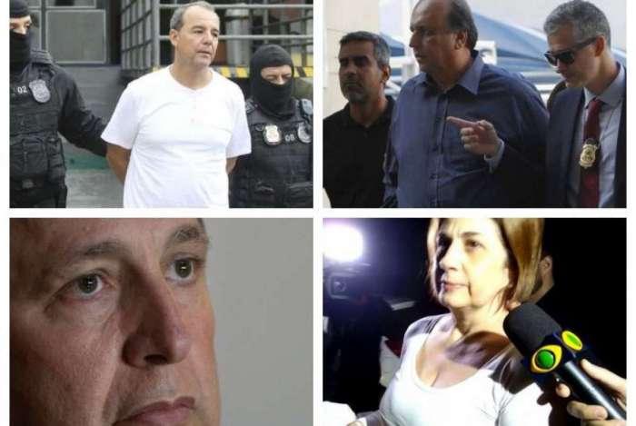 Cabral e Pezão estão presos. Garotinho e Rosinha foram soltos