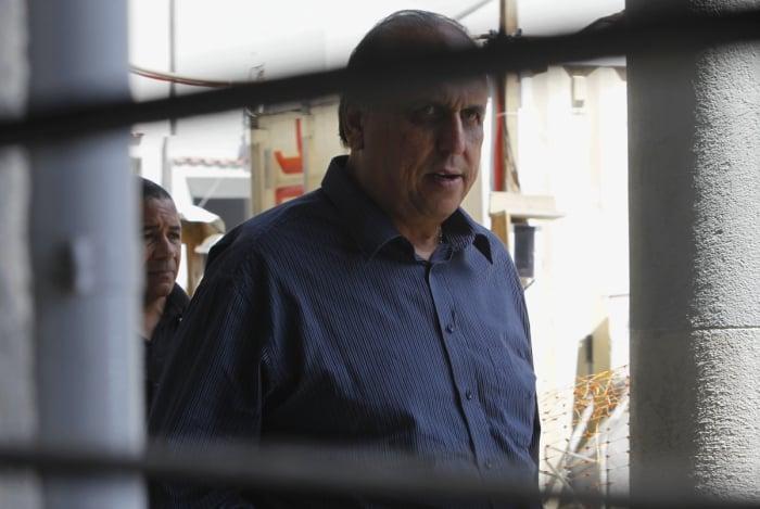 Governador Luiz Fernando Pezão (MDB) na PF após ser preso pela Polícia Federal na operação Boca de Lobo