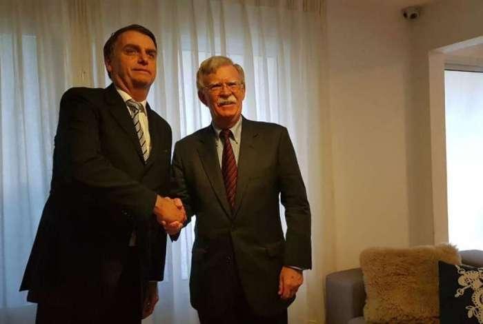 Assessor de Segurança Nacional dos Estados Unidos, John Bolton, reuniu-se no início da manhã desta quinta-feira com o presidente eleito Jair Bolsonaro