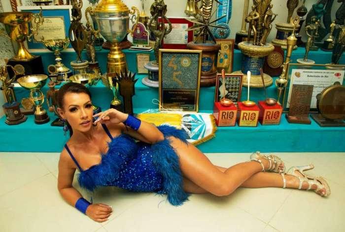 A modelo Wendy Tavares será destaque da G.R.E.S. Unidos de Vila Isabel no carnaval 2019