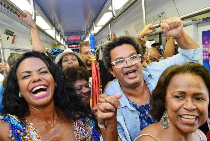 AGÊNCIA DE NOTÍCIAS - PARCEIRO - O Trem do Samba em sua 23ª edição, em 2018 celebrando o samba e a sua história com shows e rodas realizadas da Estação Central do Brasil a Oswaldo Cruz em 32 vagões. Fotos: Paulo Carneiro/Parceiro/Agência O Dia