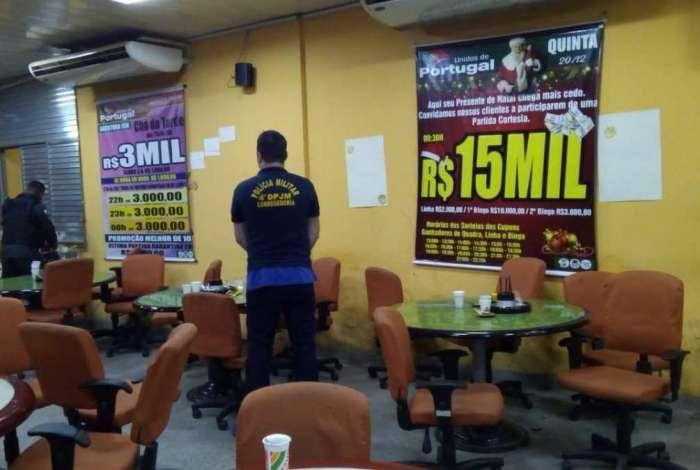 Bingo clandestino foi fechado em São Gonçalo