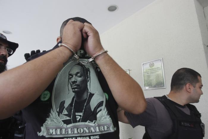 Roger dos Santos foi preso em casa, no Recreio dos Bandeirantes