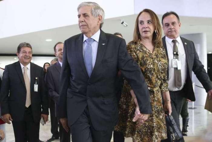 Futuro ministro do Gabinete de Segurança Institucional (GSI), general Augusto Heleno, participa da solenidade comemorativa aos 80 anos do GSI, realizada no Palácio do Planalto