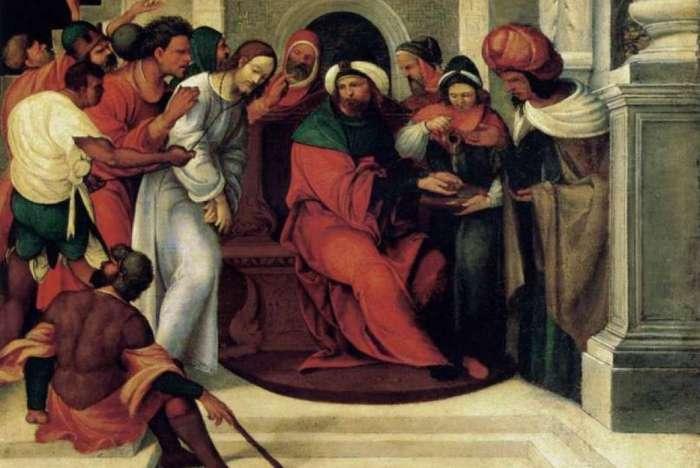 Cristo diante de Pilatos (1525), de Ludovico Mazzolino