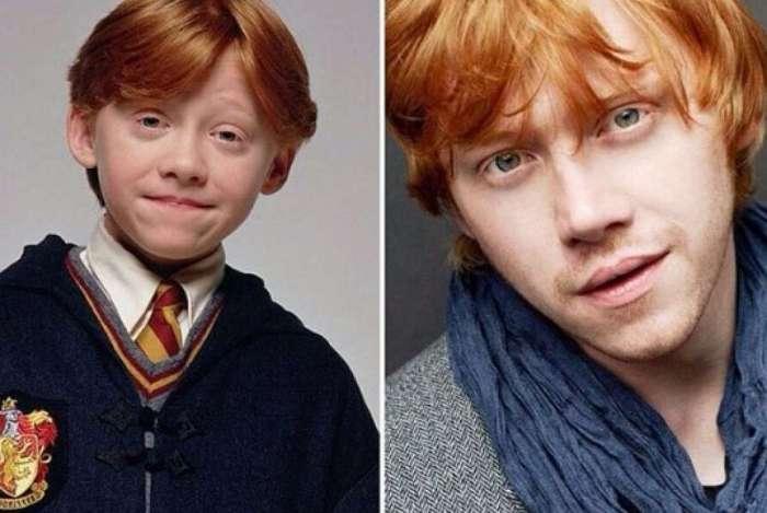 O ator Rupert Grint interpretou o personagem Harry Potter por 8 anos seguidos