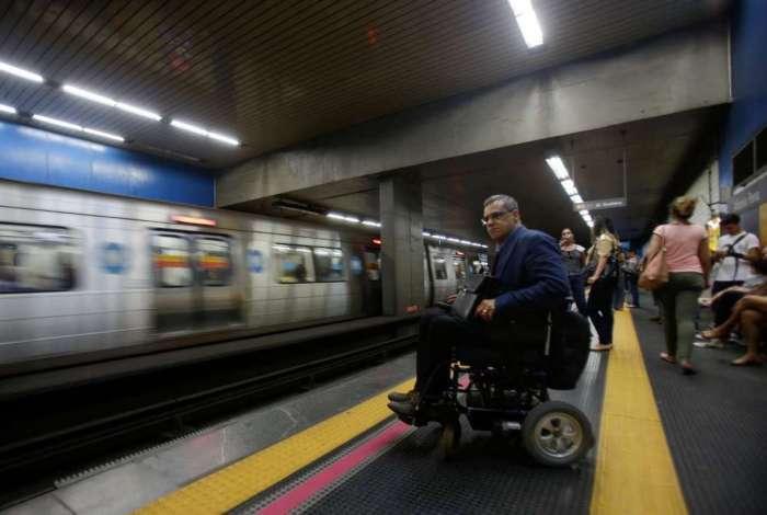 Luiz Otávio mora no Leme e trabalha na Tijuca. Ele elogiou a acessibilidade nas estação do metrô