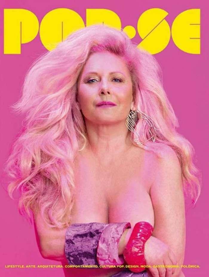 Vera Fischer posa nua para capa de revista