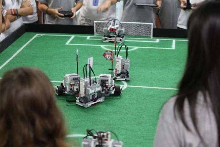 Evento robótica no Top Shopping