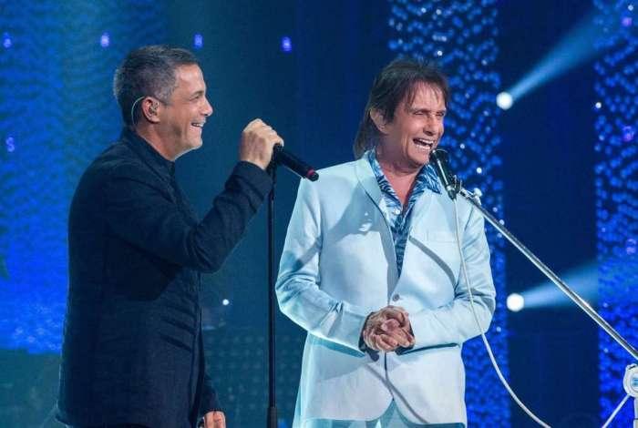 Alejandro Sanz e Roberto Carlos no especial de fim de ano da Globo