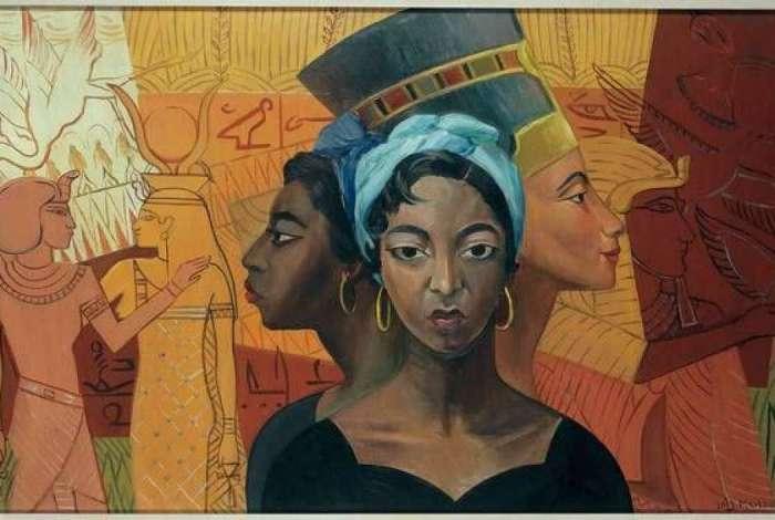 'Egyptian Heritage (Legado egipcio)', de Lois Mailou Jones (1953)