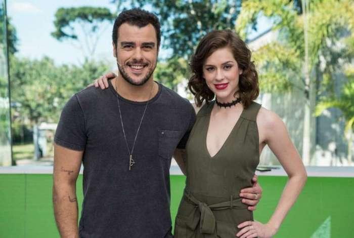 Os apresentadores do 'Vídeo Show' Joaquim Lopes e Sophia Abrahão