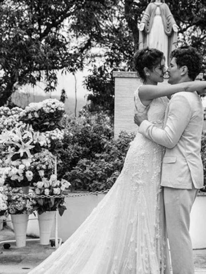 Sophie charlotte e Daniel Oliveira completaram 3 anos de casamento
