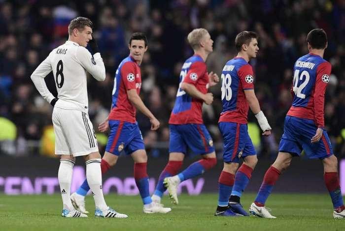 Atual campeão europeu, o Real perdeu para o eliminado CSKA