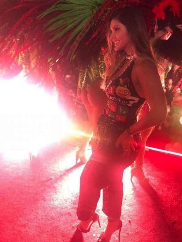 Mileide Mihaile em gravação do clipe do samba-enredo da Grande Rio