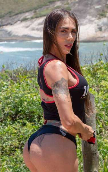 Priscila Reis tem o sonho de ser musa do seu time do coração, o Flamengo