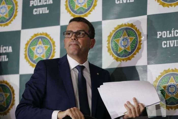 O chefe de Polícia, delegado Rivaldo Barbosa, deu declaração após solenidade de inauguração da Delegacia de Combate a Crimes Raciais e Delitos de Intolerância
