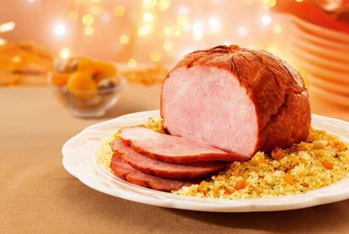 Alimentos assados, como o tender, são comuns na ceia de Natal