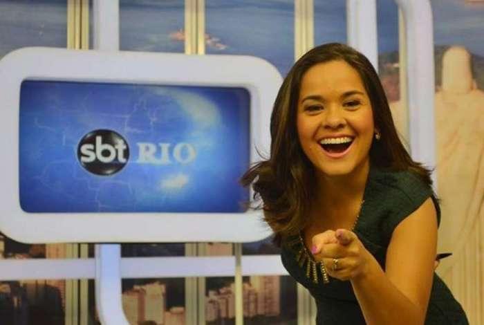 A apresentadora do 'SBT Rio' Isabele Benito
