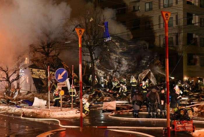 Explosão destruiu restaurante em Sapporo, no Japão