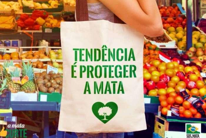 A sacola reutilizável é uma ótima opção na hora de fazer compras, além de estar sempre na moda