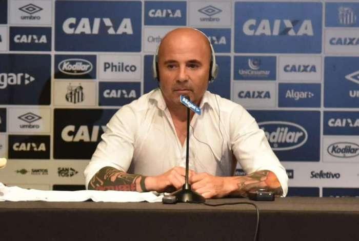 Apresentação de Jorge Sampaoli, novo técnico do Santos
