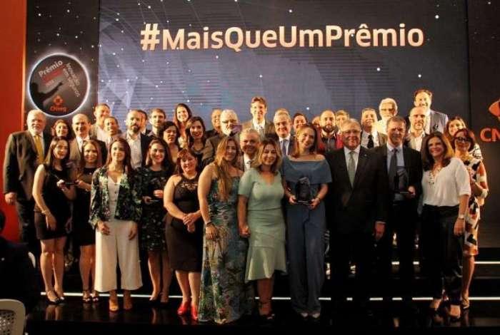 Premiados no evento promovido pela CNseg, no Copacabana Palace