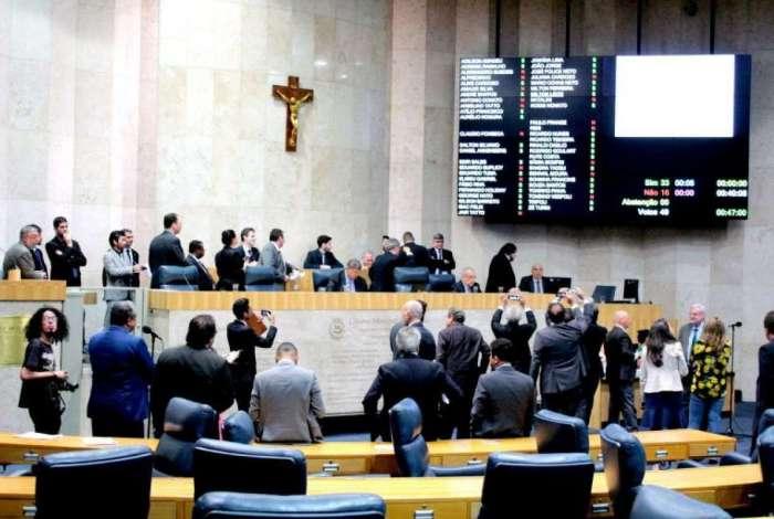 Foto da primeira Sessão Plenária que aprovou, o PL de Reforma da Previdência Municipal de São Paulo