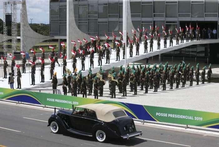 Último ensaio para a posse do presidente eleito, Jair Bolsonaro