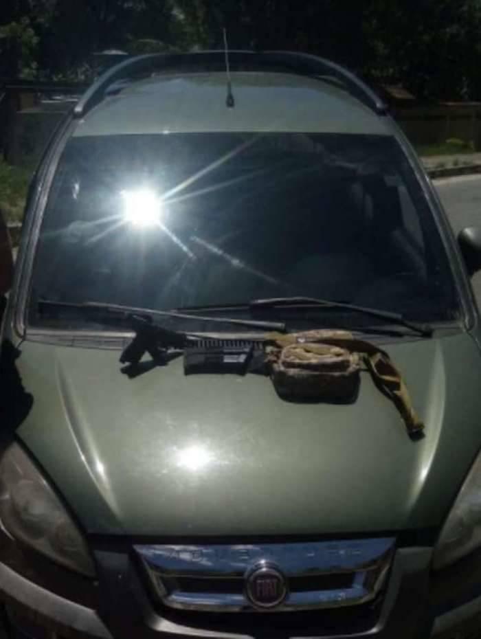 Carro roubado foi apreendido por policiais durante a prisão de Marcelo de Sá Costa