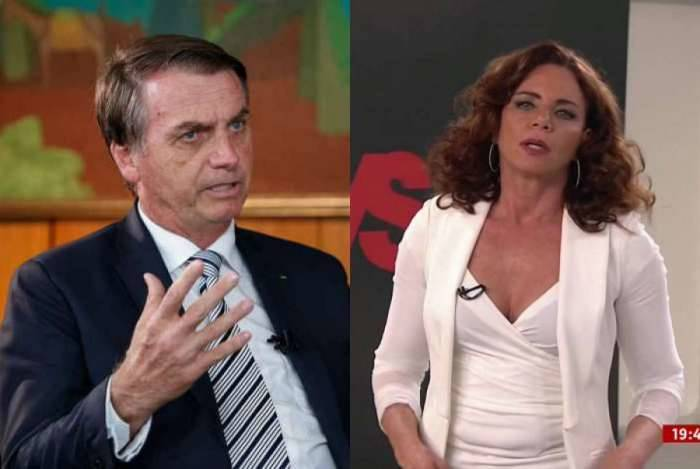 Jair Bolsonaro e a jornalista Leilane Neubarth