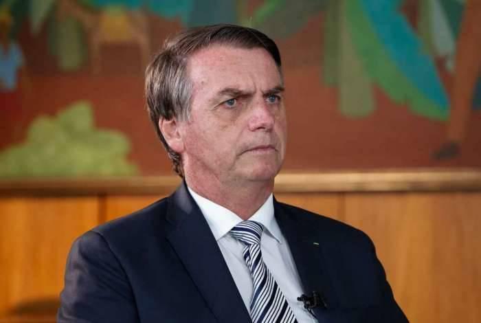 Bolsonaro durante entrevista para o 'jornal do SBT'
