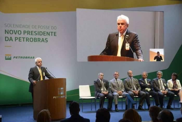 O economista Roberto Castello Branco toma posse como novo presidente da Petrobras, no edifício sede da companhia, no Rio