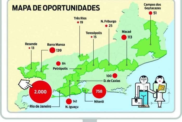 Confira o mapa de oportunidades