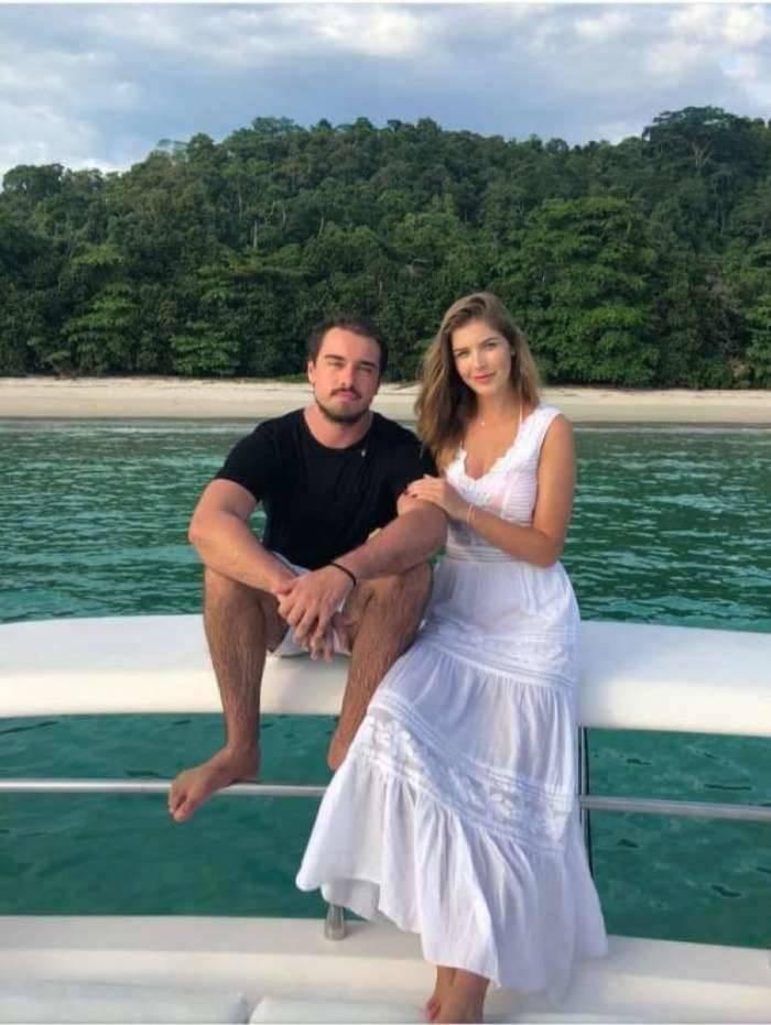 Olin Batista e a nova namorada  Juliana Schulz