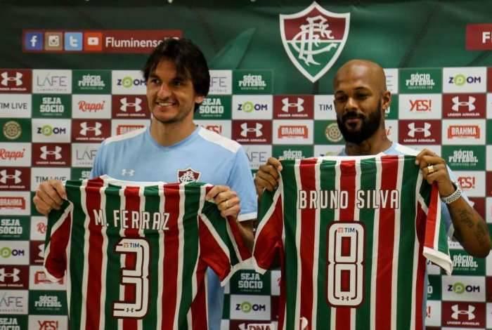 Matheus Ferraz, ex-América-MG, e Bruno Silva, ex-Cruzeiro: caras novas do Fluminense para 2019