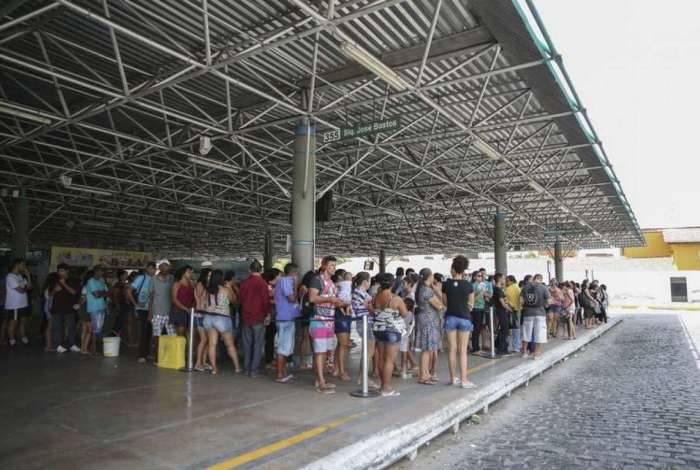 Sistema de transporte público de Fortaleza e da região metropolitana opera abaixo do normal