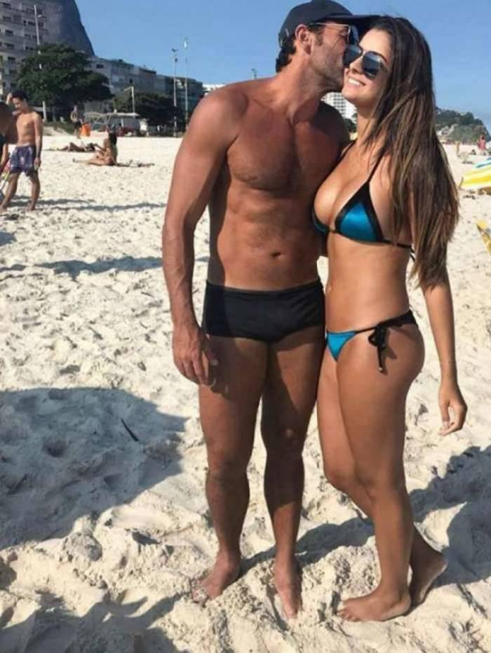 Alberto Valentim e a namorada Gabriela Andrade