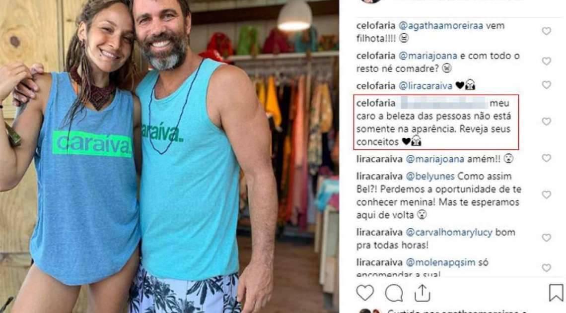 Marcelo Faria rebate críticas de seguidor sobre namorada: 'beleza não está só na aparência'