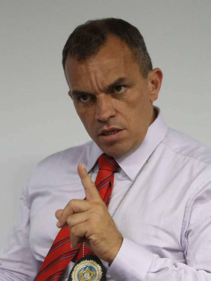 O secretário da Polícia Civil, o delegado Marcus Vinícius de Almeida Braga