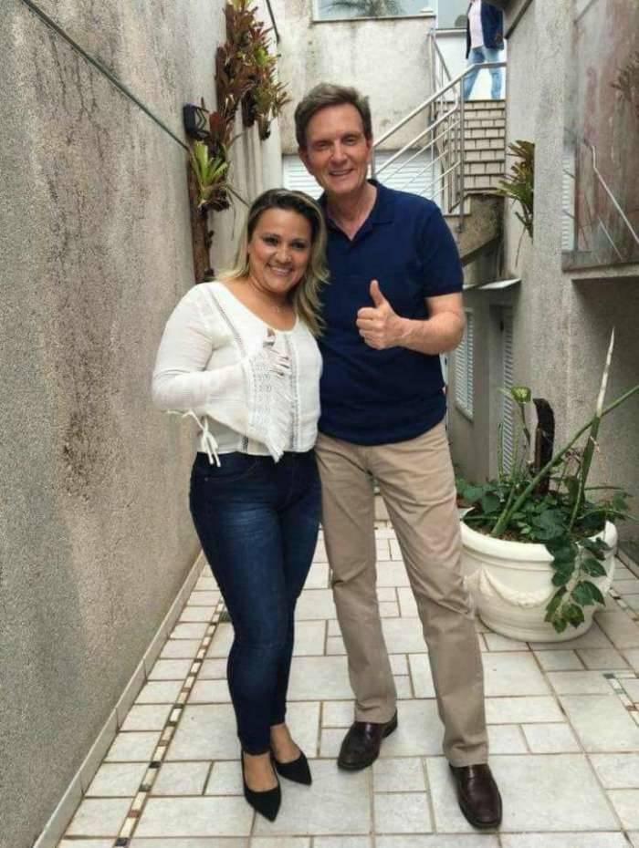 Magna Fernandes e prefeito Marcelo Crivella