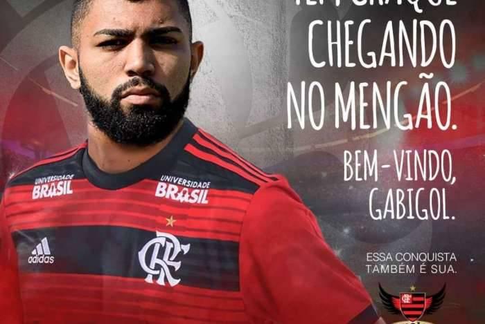 Flamengo anuncia Gabigol
