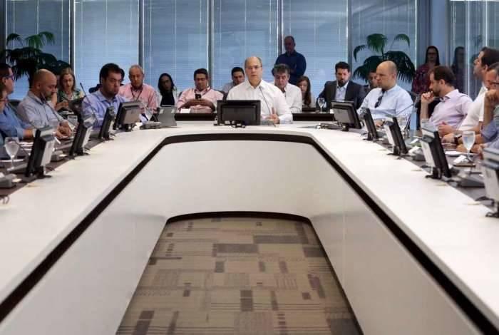 Reunião de Witzel com seu secretariado ocorreu na manhã deste sábado, no Palácio Guanabara